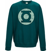 Green Lantern - Distressed Logo Sweatshirt - Small