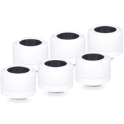 Alphacool Eiszapfen PRO 16mm Hard Tube Compression White Fitting - Six Pack