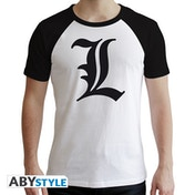 Death Note - L Symbol Men's XX-Large T-Shirt - White