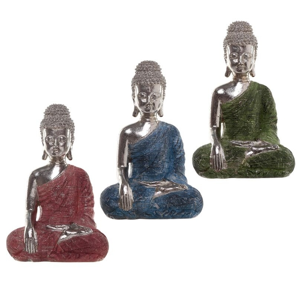 Metallic Meditation Thai Buddha Figurine (1 Random Supplied)
