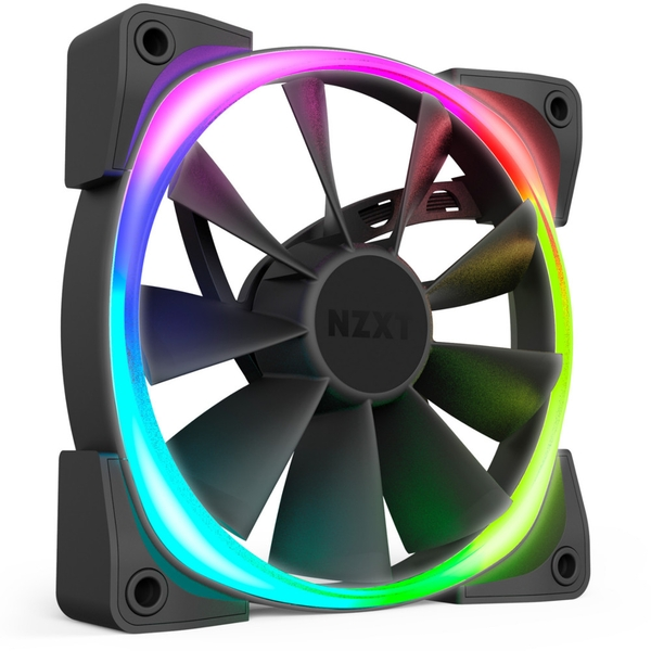 NZXT Aer RGB 2 Fan with HUE 2 Controller - 140mm Dual Fan Pack