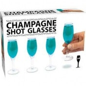 Mini Champagne Set Of 4 Shot Glasses