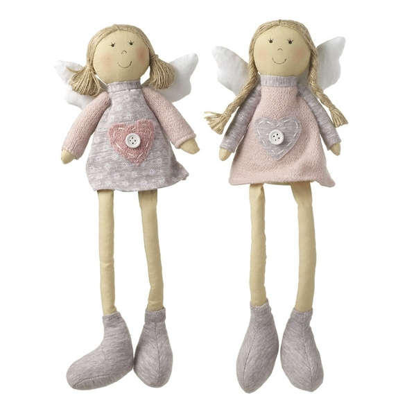 Sitting Pink & Grey Dress Angel By Heaven Sends (One Random Supplied)
