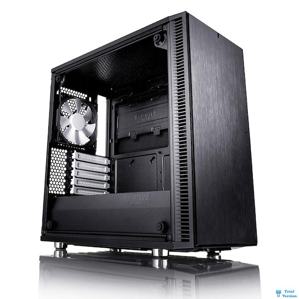 Fractal Design Define Mini C Micro-ATX Case - Black Tempered Glass