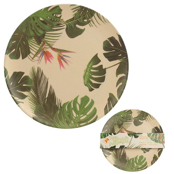 Cheese Plant Design Bambootique Eco Friendly Plate