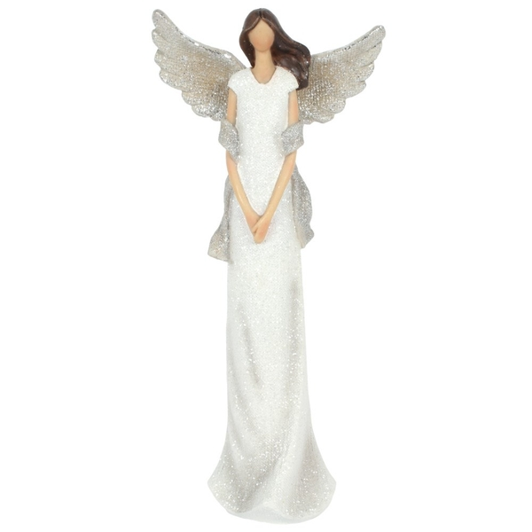 Aurelia Large Glitter Angel Ornament