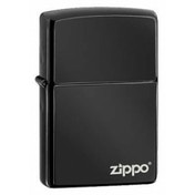 Zippo Logo Regular Ebony Windproof Lighter