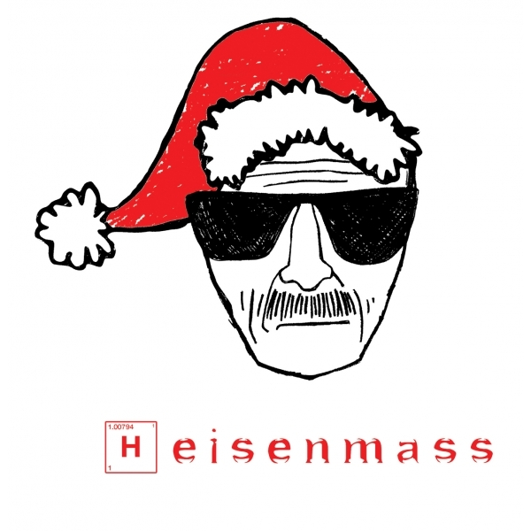 Breaking Bad Christmas Heisenmass White T-Shirt Large ZT - Image 2