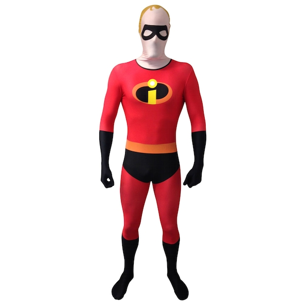 Disney - Pixar Mr Incredible Adult Cosplay Costume Morphsuit Unisex Large (Multi-Colour)