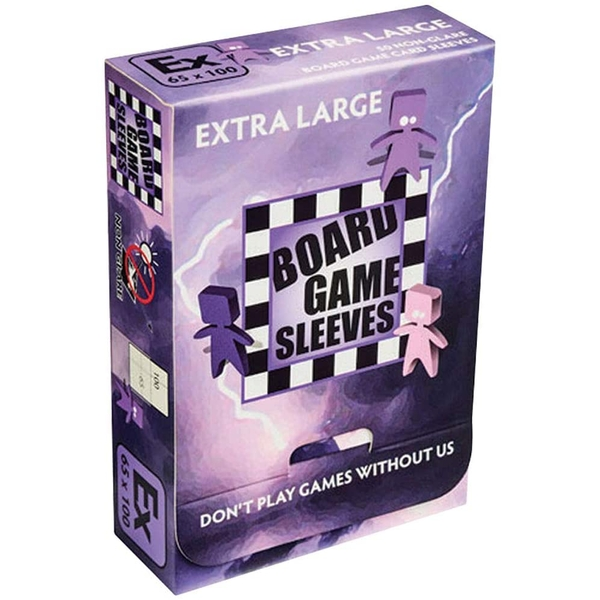 Board Game Sleeves Non Glare - Extra Large (fits cards of 65x100mm) - 50 Sleeves