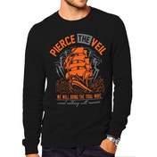 Pierce The Veil - Tidal Wave Men's Small Crewneck Sweatshirt - Black