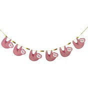 Sass & Belle Happy Sloth Wooden Bunting Decoration