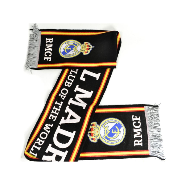 Real Madrid Black White Scarf Best Club of The World Scarf