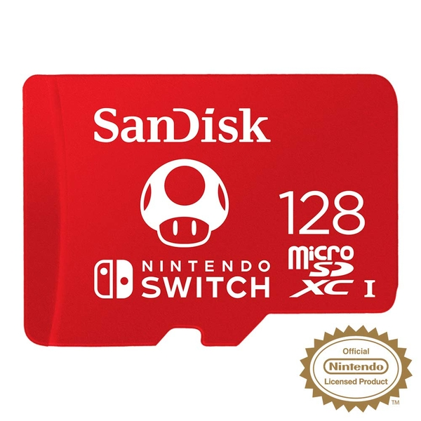 Image of SanDisk 128GB microSDXC card for Nintendo Switch