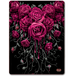 Blood Rose Fleece Blanket With Double Sided Print - Image 2