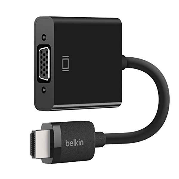 Image of Belkin HDMI Male to VGA Female Adapter with Micro-USB Power and 3.5 mm Audio Support (1080p Full HD, Apple TV compatible) -...