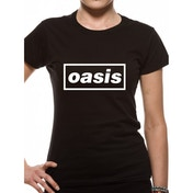 Oasis - Black Logo Women's Large T-Shirt - Black
