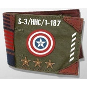 Marvel Vintage Captain America Army Canvas Wallet