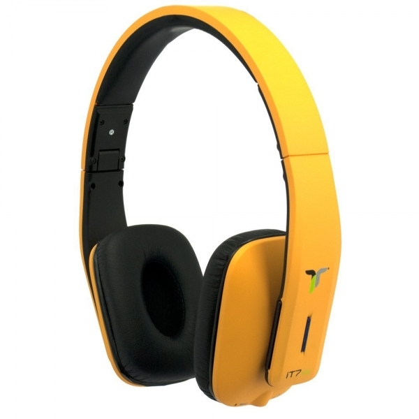 iT7x2 Foldable Wireless Bluetooth Headphones with Near Field Communication NFC Orange - Image 1