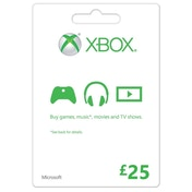 Microsoft Money (Gift Card) Twenty Five 25 Pounds Xbox 360 & Xbox One