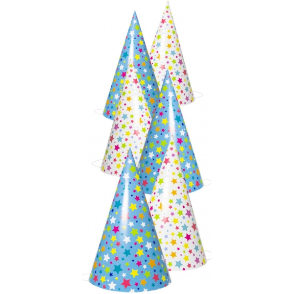 Stars Party Hats Set Of 6