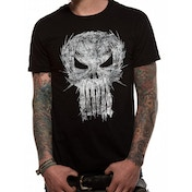 Punisher - Shatter Skull Unisex Large T-Shirt - Black