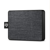 Seagate 500 GB One Touch SSD Black - Portable External Solid State Drive for PC and Mac (STJE500400)