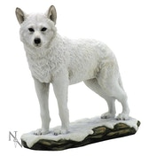 Winter Spirit Wolf Figurine