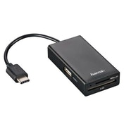 Hama USB 2.0 Type-C Hub / Card Reader for Smartphone / Tablet / Notebook / PC