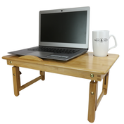 Bamboo Folding Laptop Stand | M&W