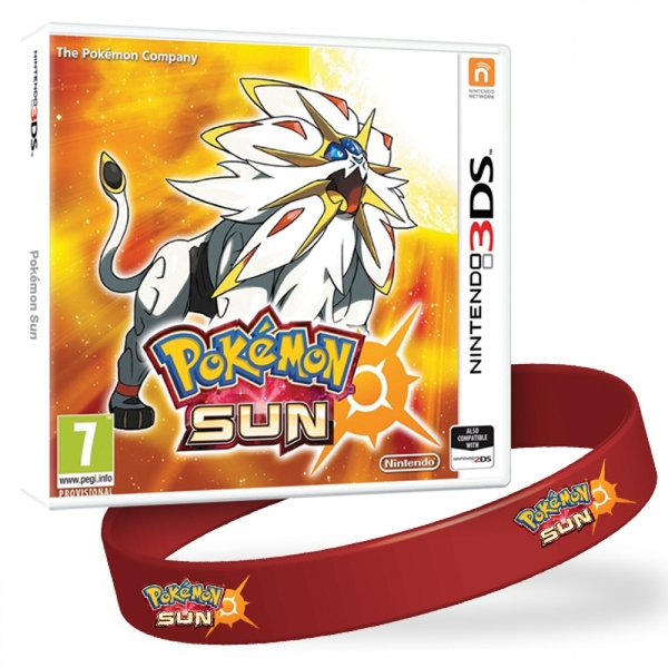 Pokemon Sun 3DS Game + Wrist Band