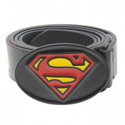 DC Comics Superman Print Belt Mens Black Medium