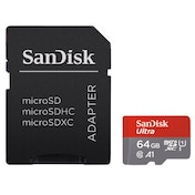 SanDisk microSDXC Ultra 64GB (A1 / UHS-I / Cl.10 / 100MB/s) + Adapter,