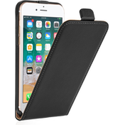 Caseflex iPhone 8 Real Leather Flip Case - Black
