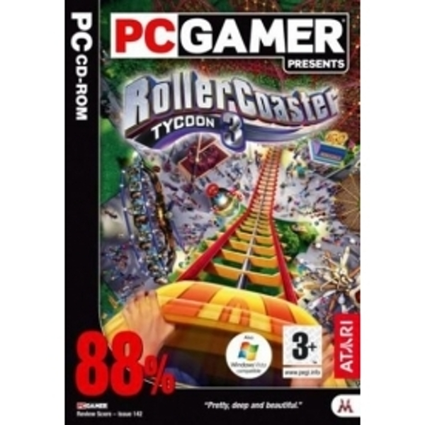 Ex-Display Rollercoaster Tycoon 3 Game PC Used - Like New