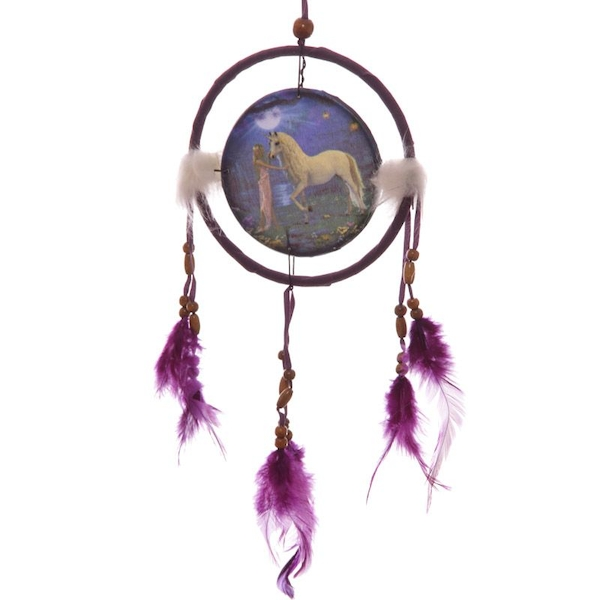 Fantasy Unicorn Garden 16cm Dreamcatcher