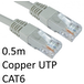 RJ45 (M) to RJ45 (M) CAT6 0.5m Grey OEM Moulded Boot Copper UTP Network Cable - Image 2