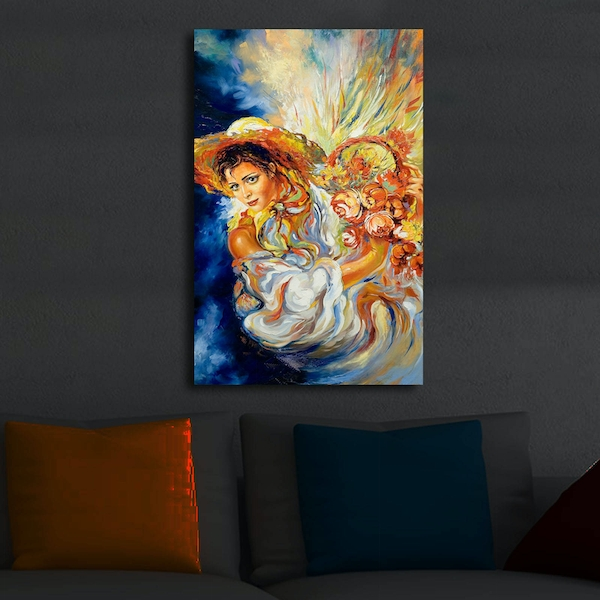 4570?ACT-26 Multicolor Decorative Led Lighted Canvas Painting