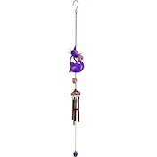 Purple Slinky Cat Windchime