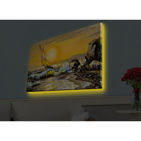 4570HDACT-058 Multicolor Decorative Led Lighted Canvas Painting