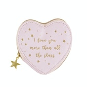 Sass & Belle Scattered Stars Love You More Coin Purse