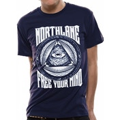 Northlane - Free Your Mind Men's Large T-Shirt - Blue