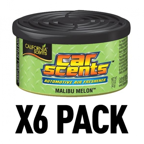 (6 Pack) California Scents Malibu Melon Car/Home Air Freshener