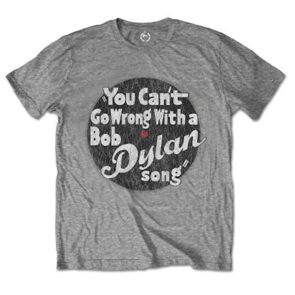 Bob Dylan - You can't go wrong Unisex Small T-Shirt - Grey