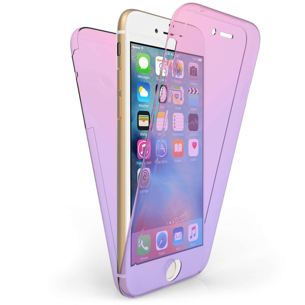 Compare prices with Phone Retailers Comaprison to buy a Apple iPhone 7 Full Body 360 TPU Gel Case - Pink / Purple