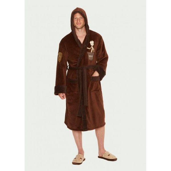 Guardians of the Galaxy Groot Marvel Fleece Robe with Hood - Image 1