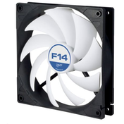Arctic F14 14cm Case Fan, Black & White, 9 Blades, Fluid Dynamic, 6 Year Warranty