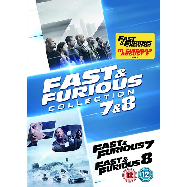 Fast & Furious 7 & 8 Movie Collection DVD