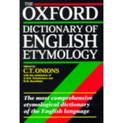 The Oxford Dictionary of English Etymology by Oxford University Press (Hardback, 1966)