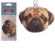 Peach Fragranced Pug (Pack Of 6) Air Freshener